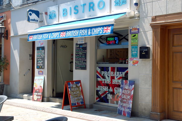 Fish & Chips in Gibraltar Main Street