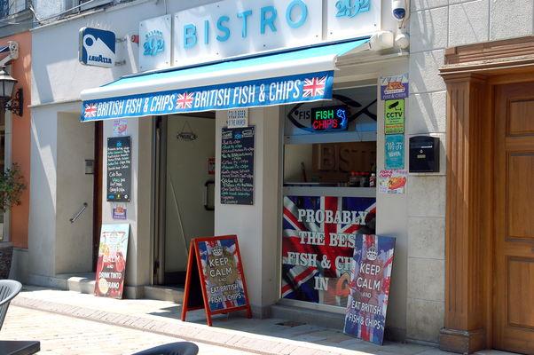 Fish & Chips in Gibraltar Main Street