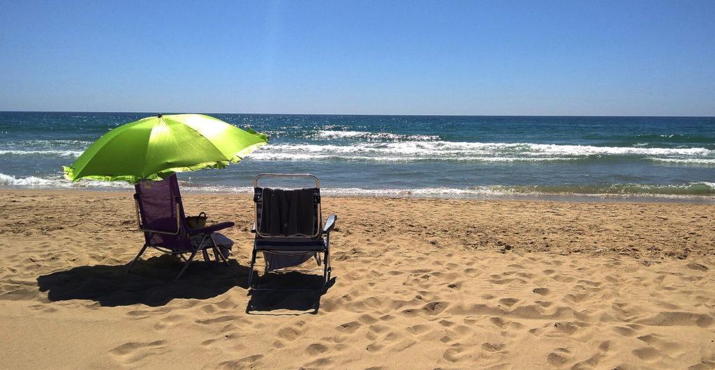 """Strand """"La Barrosa"""" in Novo Sancti Petri an der Costa de la Luz"""