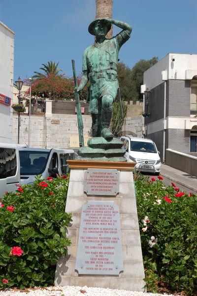 Denkmal für die Soldaten aus dem Zweiten Weltkrieg der Gibraltar Defence Force und anderer Einheiten aus Gibraltar